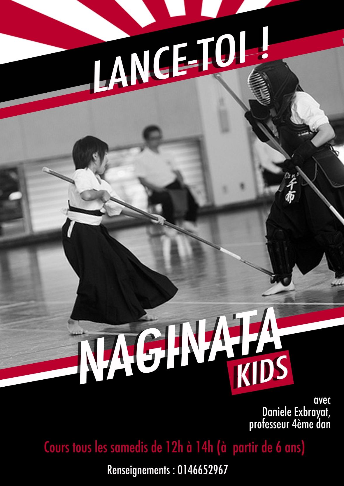 affiche naginata kids